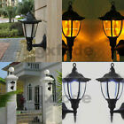 Outdoor Solar Power LED Light Path Way Wall Landscape Mount Garden Fence Lamp