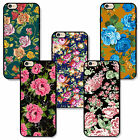 Apple iPhone Rubber TPU case patterned with floral flowers for girls lady woman