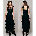 PUNK RAVE Lace Dark Dress Harajuku GOTHIC Hexe Witch Wicca  M L XL Long Dress