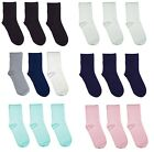 Kids School Solid Color Bamboo Seamless Socks 3 PACK Collection by Rambutan