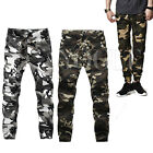Casual Men's Camo Joggers Cargo Camouflage Army Military Chino Pants Harem Dance