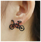 HANDMADE STERLING/TIBETAN SILVER BIKE EARRINGS GIFT BAG GIFT
