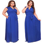 Women Slim Thin Sexy Loose Oversized XL-4XL Plus Size Tied Long Maxi Party Dress