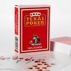 Modiano playing cards - Texas Poker 100% Plastic Jumbo Index, 2 PIP, Wide Size