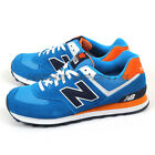 New Balance ML574CPS D Blue & White & Orange Classic Suede Lifestyle Shoes NB