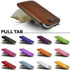 GENUINE TOP LAYER LEATHER IN CASE COVER SLEEVE POUCH FOR ALL VIVO SMART PHONES