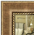 Wall Framed Mirror, Bathroom Vanity Mirror Distress Natural Finished light Gold