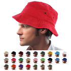Bucket Hat Cap Boonie 100% Cotton Fishing Military Hunting Safari Summer Men