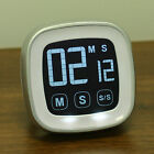 LCD Touch Screen Kitchen Egg Timer Magnetic Countdown Count UP Alarm Clock