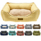 Pet Beds Dog Cat Soft Microfiber Orthopedic Nesting Fleece Cushion Sleeping Bed