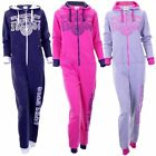 Girls Onezee Zip Up Athletic 1984 Hooded Onesies All In One Onesie In 3 Colours