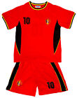 Boys Football Sports BELGIUM No10 Crew Neck Top & Shorts Set 2 to 14 Years