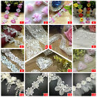 Lace Trim Vintage Polyester Cotton Edge Wedding Ribbon Applique Sewing Craft UK