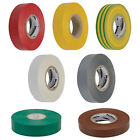33 Metre Electrical Insulation PVC Tape Rolls Yellow/Brown/Grey/White/Green/Red
