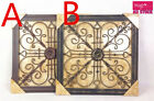 2pcs Square Heart Curls Abstract Metal Modern Vintage Wall Art Home Decor 3069