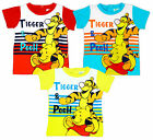 Boys Baby Toddler Disney Winnie the Pooh & Tigger Stripe T-Shirt 6 to 23 Months