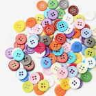 100PCS 4 Holes Resin Round Buttons Sewing Craft Clothing Accessories 15MM