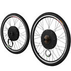 48V 1000W 26'' Front/Rear Wheel Electric Bicycle w/Tire Motor Conversion Kit