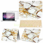 3in1 Marble Hard Case Shell Cover +KB +SP For Macbook Pro Air 11