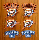 Iron On Sew On Transfer Applique Oklahoma City Thunder Cotton Fabric Patch Set on eBay