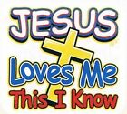 JESUS LOVES ME Cute Christian White Kids Tee Shirt 2-4=XS To 14-16=LG