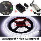 Cool White SMD 5630 LED Strip Flexible Light +Dimmer Controller +Power Adapter