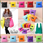 NEW STRONG ECO FOLDING SHOPPING CARRIER BAG TOTE TRAVEL HANDBAG REUSABLE BAG