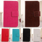 Book-Style Design PU Leather Case Wallet Cover Protector For Wiko Robby 5.5""