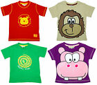 Boys Girls Baby Hippo Lion Monkey Snake Cotton T-Shirt Top 6 to 24 Months