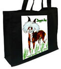 Cartoon Chinese Crested Dog, Bad Hair Day Cotton Shopping Bag, Choice of Colours