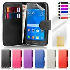 32nd Book Wallet Case Cover Samsung Galaxy Ace Phones + ScreenProtector & Stylus