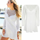 CHIC New Fashion Women's Loose Chiffon Tops Long Sleeve Shirt Casual Blouse Free