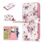 Emboss Roses Flowers 9 Card Slots Wallet Stand Cover Case for iPhone Samsung LG