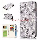 Emboss Butterfly Flower Card Slots Wallet Stand Cover Case for iPhone Samsung LG