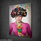 LOLLIPOPS IN THE HAIR FUNKY LADY WALL ART CANVAS PRINT PICTURE READY TO HANG