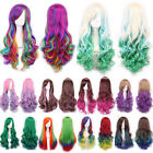 Harajuku Ombre Wig Curly Heat Resistant Halloween Anime Cosplay Wigs 10color