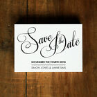Modern Script Wedding Save the Date or Save the Evening - Calligraphy Classic