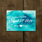 Personalised Watercolour Wedding Save the Date or Save the Evening - Watercolor