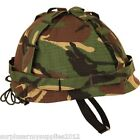 BOYS M1 ARMY HELMET + COVER US REPLICA FANCY DRESS COMBAT HAT CAMO WW2 VIETNAM