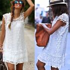 Kyпить Fashion Women Casual Lace Sleeveless Evening Party Cocktail Short Mini Dress на еВаy.соm