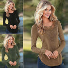 CHIC Women's Ladies Loose Long Sleeve Lace Tops T-shirt Crochet Blouse Shirt New