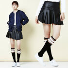 """2NEFIT"" Korea Women's Clothes SK-003 Frilly Punching Leather Skirt Size S M"