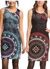Desigual Epstein Dress S-XXL 10-18 RRP£99 Teal / Black & Red Floral Print Shift