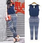 Women Sexy Summer Clubwear Playsuit Party Jumpsuit&Romper Long Trousers Blue