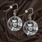 "CARY GRANT   1"" Button Dangle Earrings  FREE PIN  USA Seller"