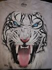 The Mountain TRIBAL WHITE TIGER BIG FACE Adult Men T-Shirt S-2XL Short Sleeve