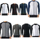 Belleap Rash Guard Mens Zip-up Long Sleeve Swimwear UV Protection 0305~0333 AU