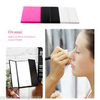 Ovonni Tri Fold Adjustable Led Lighted 8 LEDs Touch Screen Make-up Travel Mirror