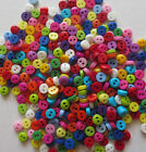 TINY MIXED ROUND  5mm or 6mm BUTTONS - 2 HOLE - VARIOUS COLOURS - 40G