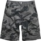 NEW FOX RACING BOYS YOUTH CHARCOAL CAMO SLAMBOZO CARGO SHORTS 100% COTTON